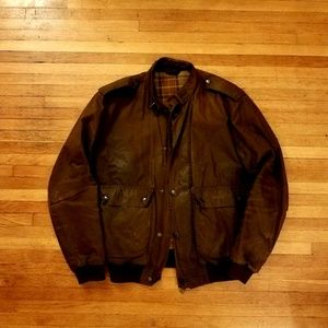 Barbour Wax A955 Flyer Jacket Brown